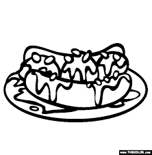Small Picture Banana Split And Pinto Beans Online Coloring Page