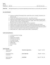 apprentice electrician resume job and resume template