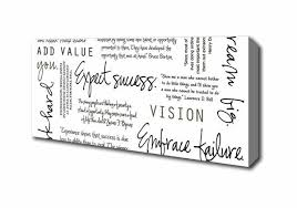 Famous Quotes About Dreaming Big Best of Famous Quote Work Hard Dream Big Expect Success Panoramic Canvas