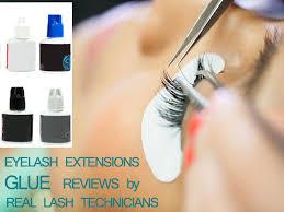 best eyelash glue. eyelash extensions glue reviews best e