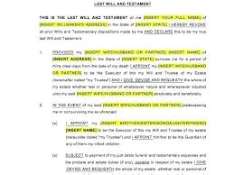 Easy Rules Of Last Will And Testament Form Simple Sample