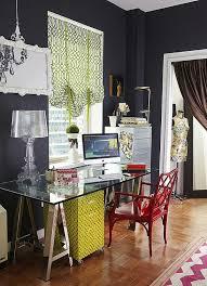 colorful home office. colorful home office with glass desk furniture