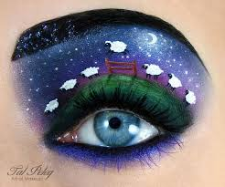 this impressive eye makeup design is led the land of tears and we think del incredibly