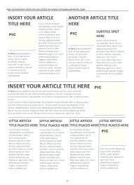 School Newspaper Layout Template Newspaper Format Word Template Article Templates For Microsoft