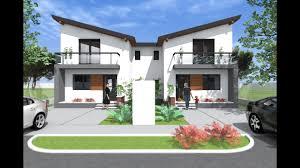 Modern small duplex house design. 3 bedroom duplex design. two apartments -  YouTube