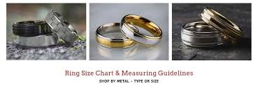 Tungsten Carbide Ring Size Chart Mens Ring Size Chart How To Find Your Ring Size