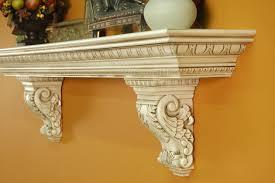 athenia commodore premium mantel shelf with corbel
