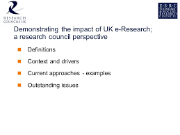 Demonstrating the impact of UK e-Research; a research council perspective  Drs. Astrid Wissenburg, ESRC Workshop 11: Profiling UK e-Research: Mapping  Communities. - ppt download