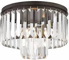 restoration hardware replica crystal fringe odeon chandelier flush mount new 219 00
