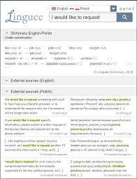 linguee polish screenshot
