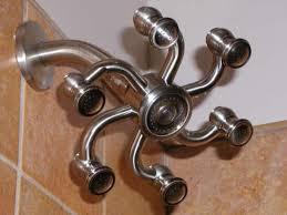 dual shower head. Octopus Brass Shower Head Dual