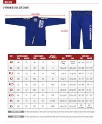 Karate Belt Size Chart Venum Contender Kids Bjj Gi Free White Belt Included