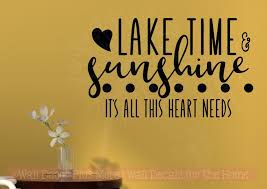 Wall Decor Quotes New Lake Time Sunshine Girl Bedroom Decor Quote Vinyl Lettering Wall Decals