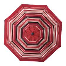 allen roth red wheat stripe market 9 ft patio umbrella