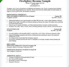 Sample Fire Resume Fire Lieutenant Resume Volunteer Firefighter ...