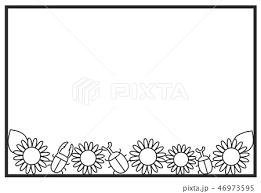 カード ひまわり デコレーション メッセージのイラスト素材 Pixta