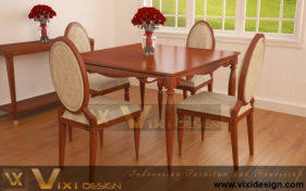 Dining Chair Table Set Classic Modern Paris