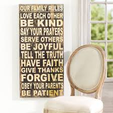 Family Rules Wall Hanging - Wall Art - Wisteria