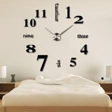Diy Clock Modern Simple Style Diy Large 3d Time Clock Wall Sticker Lazada