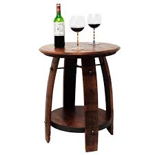 wine barrell furniture. recycled wine barrel side table 1 thumbnail barrell furniture