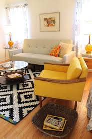 flokati rug ikea with midcentury living room and curtains glass side table vintage amber glass lamp pixellated