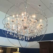 large sphere chandeliercrystalchrome finish l adjchain chandelier astounding chrome orb chandelier chromeorbchandelier