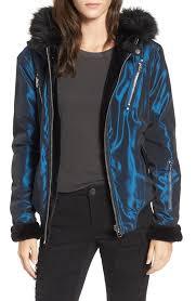 blanknyc sailor reversible faux fur trim jacket juniors clothing gdckjn