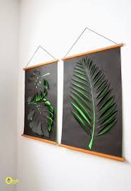 17 diy ideas for decorating your walls on 3d paper wall art tutorial with 17 diy ideas for decorating your walls nature inspired 3d and
