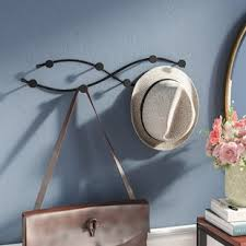 Wall Mounted Coat Rack With Hooks Wall Mounted Coat Racks Wall Hangers You'll Love Wayfair 41