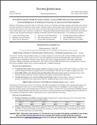 Sample Executive Resume Format Telecommunications Executive Resume Sample