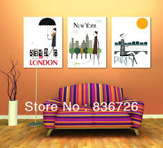 office canvas art. Terrific Compelling Home Decor Canvas Painting New York Office Wall Art Piece S
