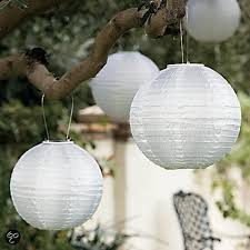 Pakket Met 5 Witte Lampionnen