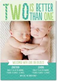 twin birth announcements photo cards twins birth announcements better than one front wintergreen