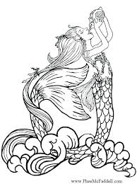 Cute Mermaid Coloring Pages At Getdrawingscom Free For Personal