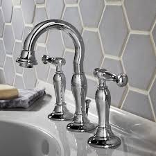 brushed chrome bathroom faucets. Bathroom Sink Faucets - Quentin 2-Handle 8 Inch Widespread High-Arc Faucet Brushed Chrome