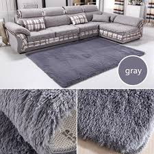 140 200cm large size plush gy thicken soft carpet area rugs slip resistant floor mats for living room bedroom home supplies carpet tiles braided
