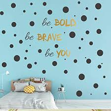 stick removable vinyl polka dot decor