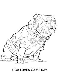 Educational pictures, photos and crafts. Georgia Bulldogs Coloring Pages University Of Georgia Athletics