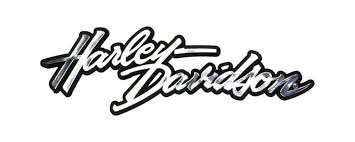 chrome 3d harley davidson autograph decal dc076062