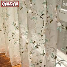 living room sheer window treatments.  Living Pastoral Leaves Embroidered Voile Curtains Bedroom Sheer For Living  Room Tulle Window Treatment  Intended Treatments T