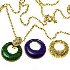 van cleef arpels diamond malachite lapis lazuli 18k yellow gold pendant necklace