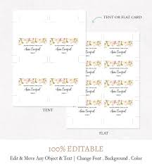 Name Templates Printable Wedding Place Cards Template Word Awesome Diy Placement Card