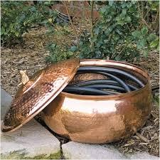 garden hose storage pot. Copper Hose Storage Pot - Garden