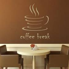 coffee break kitchen cafe wall decals wall art stickers transfers on cafe wall artwork with 17 best kitchen decor images on pinterest kitchen decor coffee