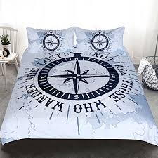 3 piece nautical themed duvet cover