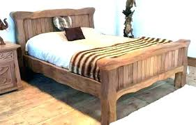 wood bed frame king. Wooden Bed Frame King Wood Elegant Solid Platform Teak .