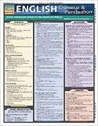 English Grammar And Punctuation Laminate Reference Chart