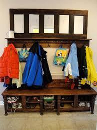 Old Door Coat Rack And Bench Simple Coat Rack Made From An Old Door Pretty Handy Girl