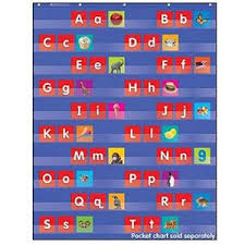 Alphabet Pocket Chart Cards Daily Routine Upper