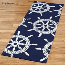 ont nautical runner rug ship wheel indoor outdoor rugs by liora manne